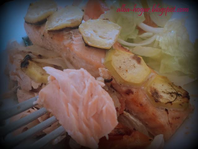 salmón al horno alba hogar