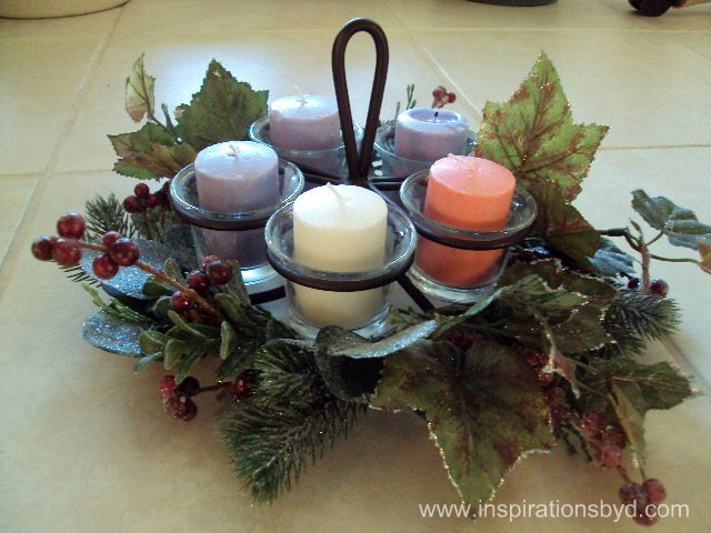 DIY Advent Table Wreath for Kids