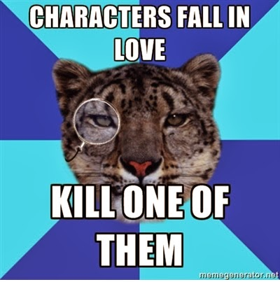 Leopard Writer Meme: Characters Fall n Love, Kill One of Them