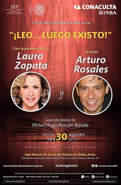 """Lectura dramatizada de """"El deseo"""" de Víctor Hugo Rascón en el Palacio de Bellas Artes"""