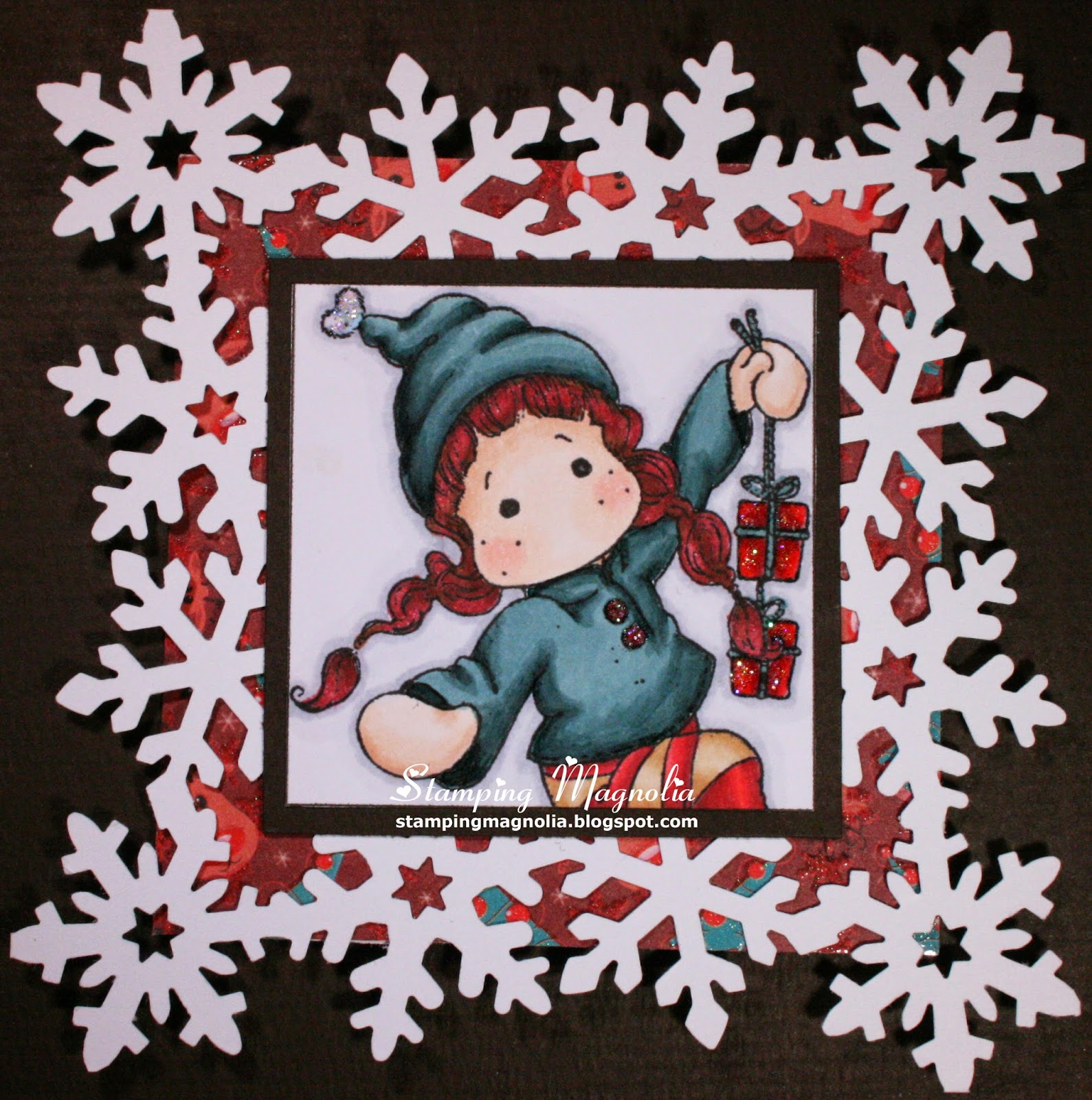 Coloring Magnolia Stamp A Christmas Story Collection - Tilda with 2 Gifts