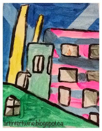 Art Intertwine - Demuth Cityscapes for kids