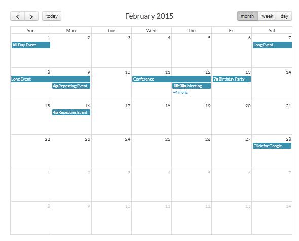 Jquery event calendar,ajax calendar,fullcalenar,date time management