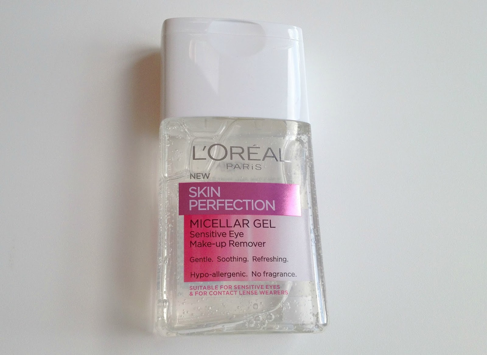 L'Oreal Skin Perfection Micellar Gel sensitive eye make up remover