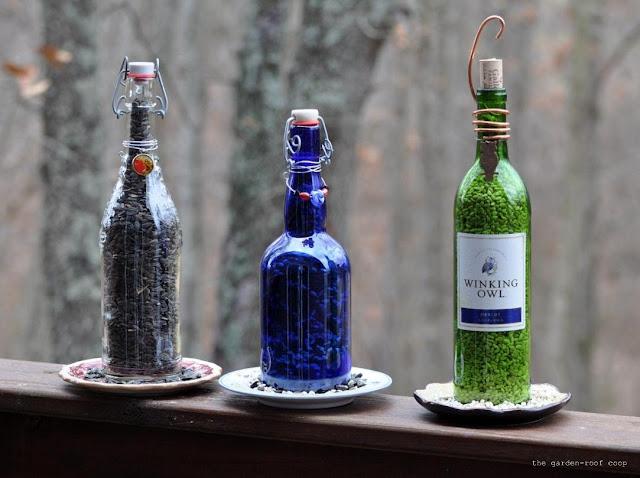 the garden-roof coop: DIY Wine Bottle Bird-