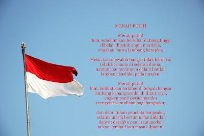 Puisi Kemerdekaan Indonesia Tema Merah Putih