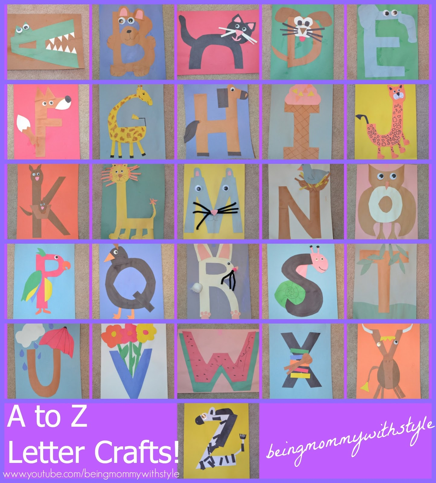 got a brand new bag preschool alphabet letter crafts a through z