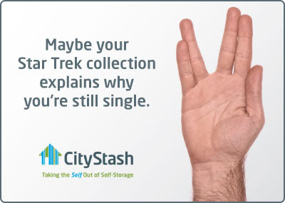 CityStash ad: Maybe your Star Trek collection explains why you're still single