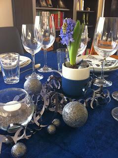royal copenhagen glimmerkugler glimmer hyacint blå