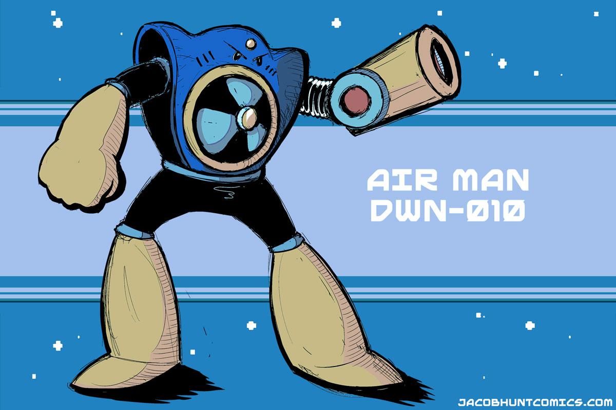 Robot Master Air Man from Mega Man 2