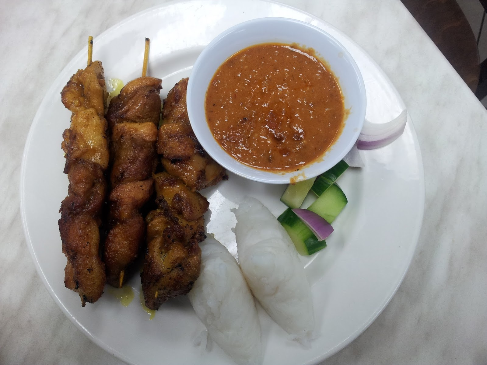 Nanyang Cafe, Chicken Satay, Adelaide, Rundle Mall
