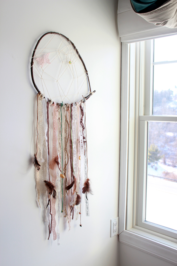 How To Make A Big Dream Catcher The Forge DIY how to make a vintage lace dreamcatcher 17