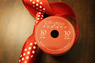 Christmas ribbon from Hobby Lobby