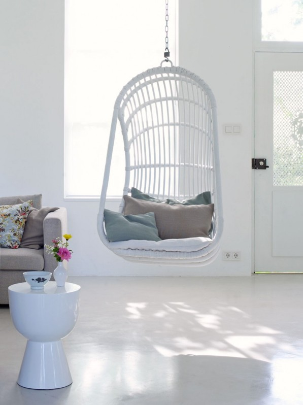 silla colgante blanca chic and deco