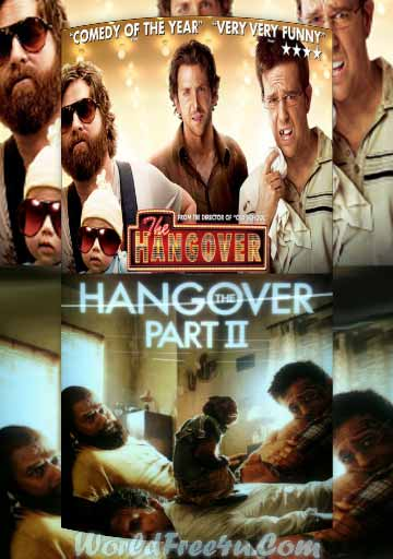 Poster Of The Hangover Duology In Hindi English Dual Audio 300MB Compressed Small Size Pc movies Free Download Only At worldfree4u.com