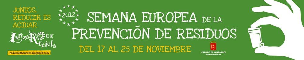 Semana Europea de la Prevención de Residuos en Lanzarote