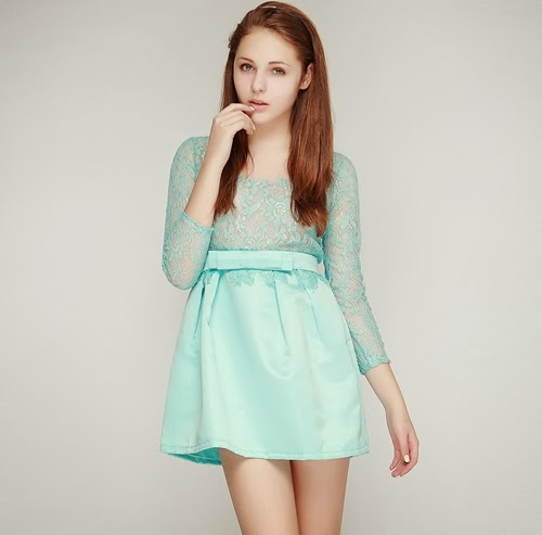 Classe Lace Satin Dress