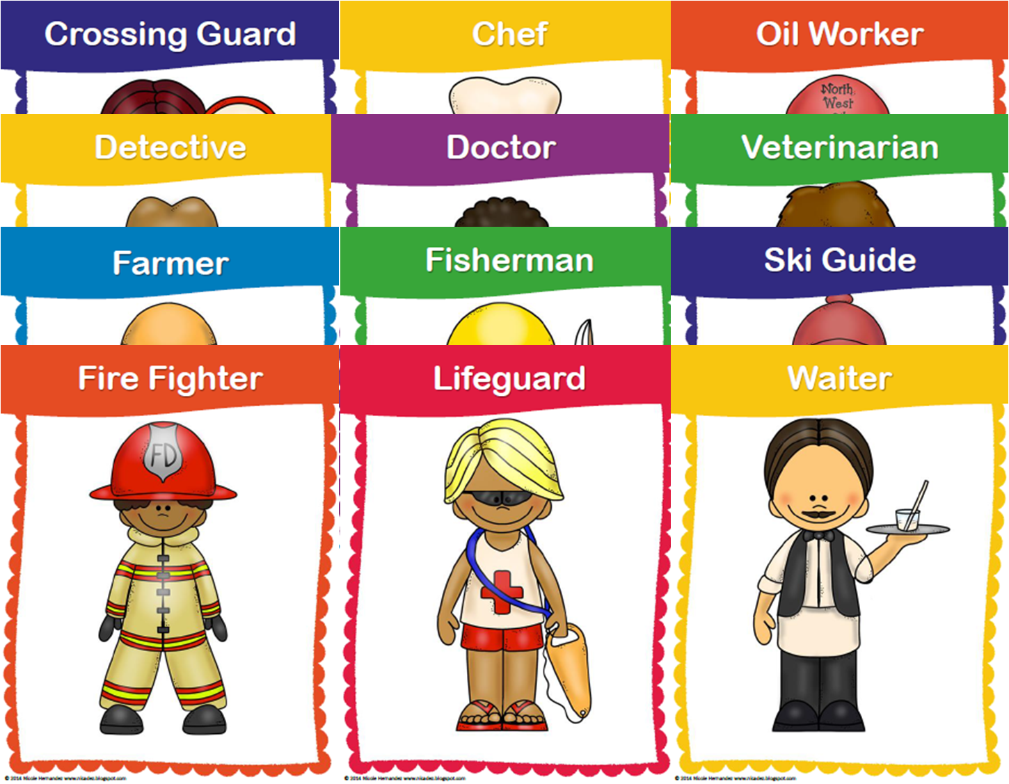 http://www.teacherspayteachers.com/Product/Community-Helpers-and-Careers-24-Large-Posters-Vocabulary-Cards-and-Mini-Books-1268465