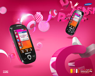 Free Download Samsung Corby Pro Pink Wallpaper