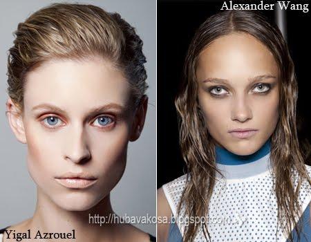 мокър ефект за къса и дълга коса