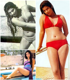 Dimple Kapadia navel in bikini