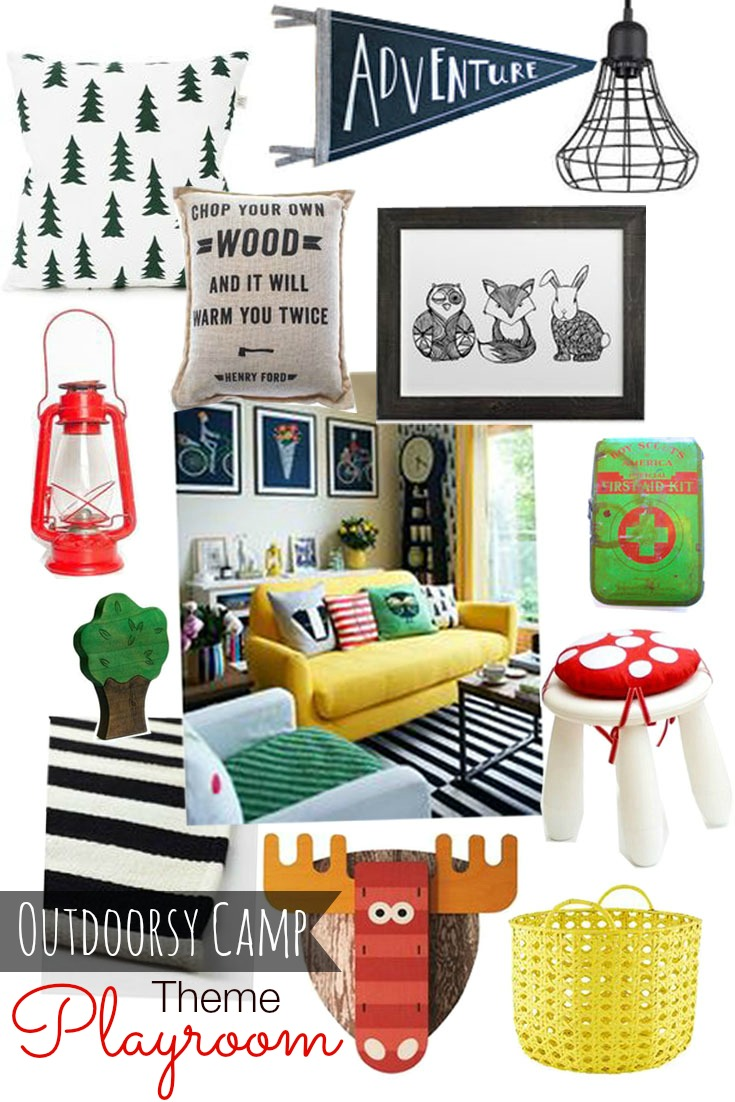 Outdoorsy Camp Woodland Theme Playroom
