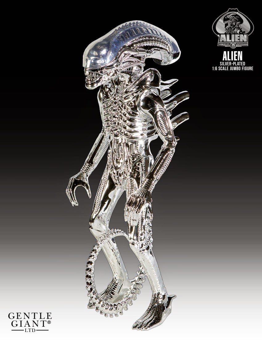 35th Anniversary Silver Vac-Metal Alien Vintage Kenner Jumbo Action Figure