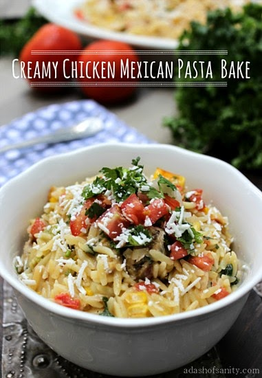 Creamy Chicken Mexican Pasta Bake @ A Dash of Sanity