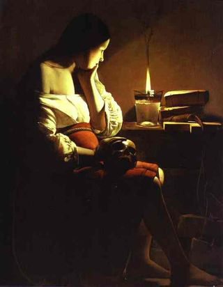 Georges de la Tour Magdalene and the Flame