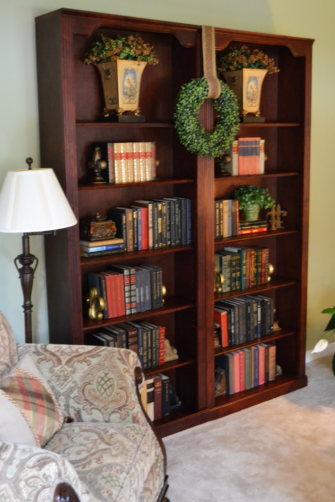 front bookcases in and living nesting room our built decor spring family