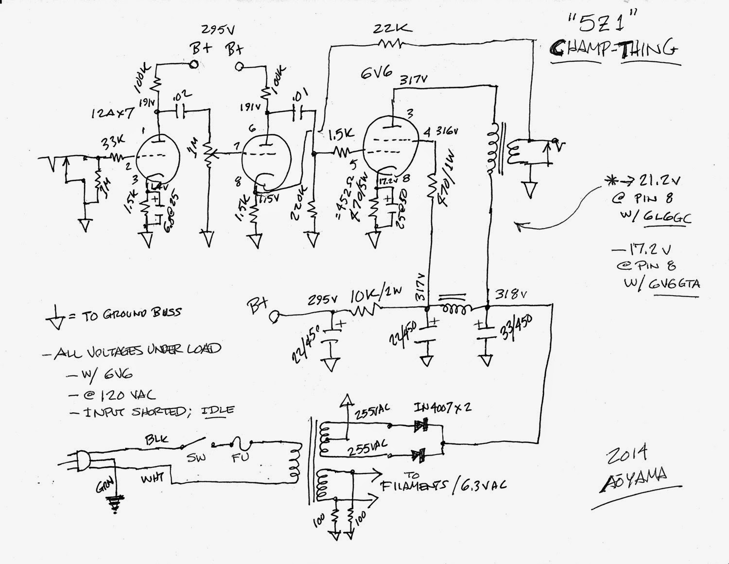 99+Cent+Champ+Schematic origami night lamp the 99 cent champ amp, part 3 5f1 wiring diagram at edmiracle.co