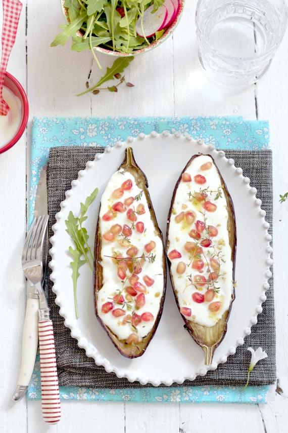 eggplant with buttermilk sauce by Ottolengui y Panna cotta de ...