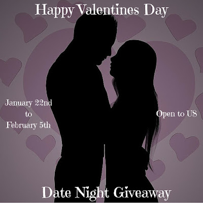 Enter the Valentine's Day Date Night Giveaway. Ends 2/5