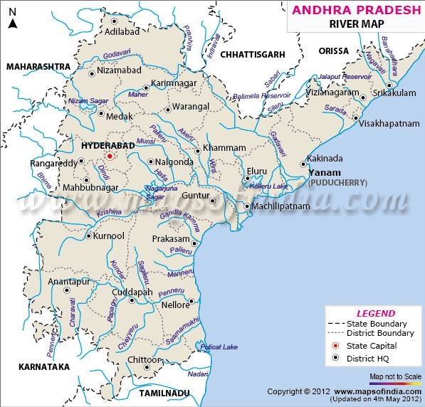 One Stop Blog Telangana And Tungabhadra A Call For Democratic - Ap rivers map