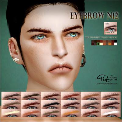 Eyebrows by Tifa My Sims 4 Blog: Eyebrows by Tifa - 웹
