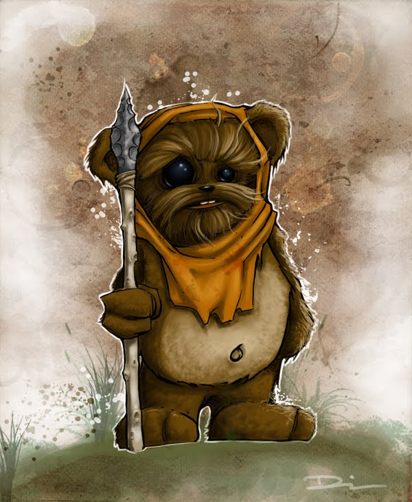 Time-lapse - watercolour painting of a Ewok - YouTube