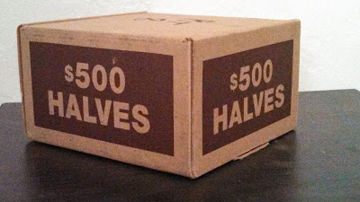Brinks Half Dollar Coin Box $500 half dollar cube