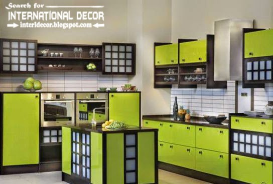Italian kitchen,contemporary kitchen,green kitchen cabinets,Italian kitchen cabinets