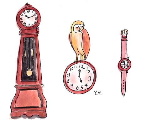 Clocks by Yukié Matsushita