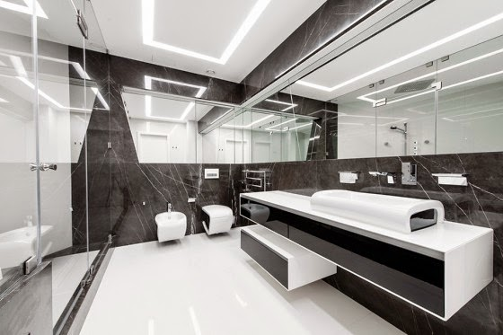 Futuristic bathroom design