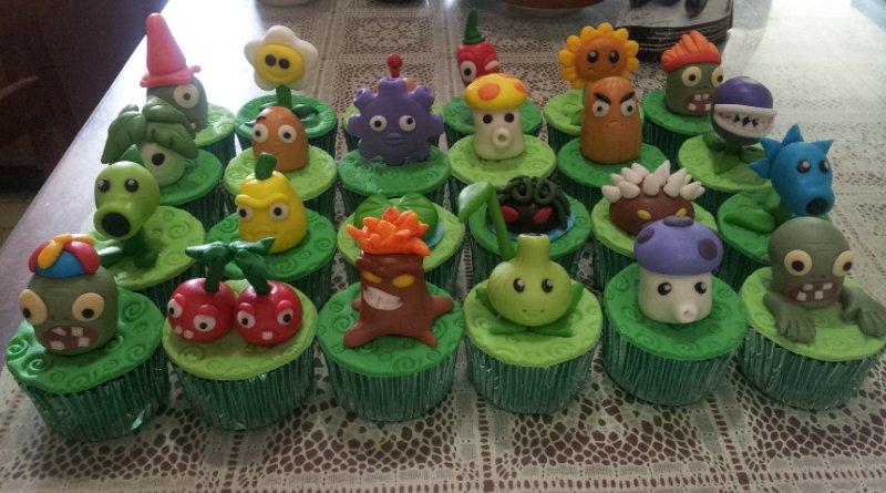 Emily Bakes Cakes Plants Vs Zombies Cupcakes