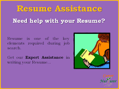 Resume writing assistance