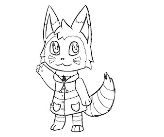 #8 Animal Crossing Coloring Page