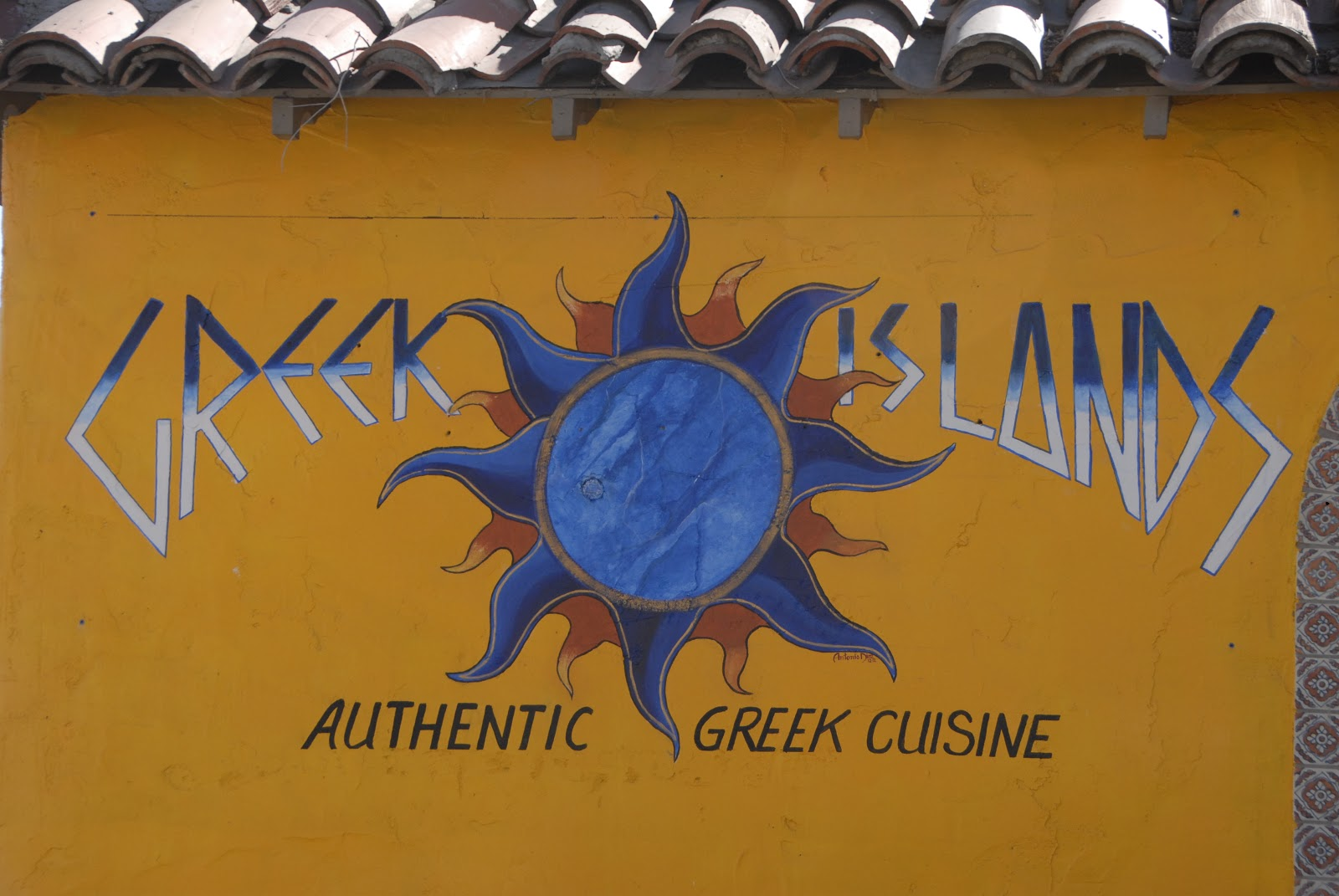 Greek restaurant sign