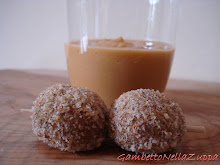 Polpettine di gambetto con crema di lenticchie rosse