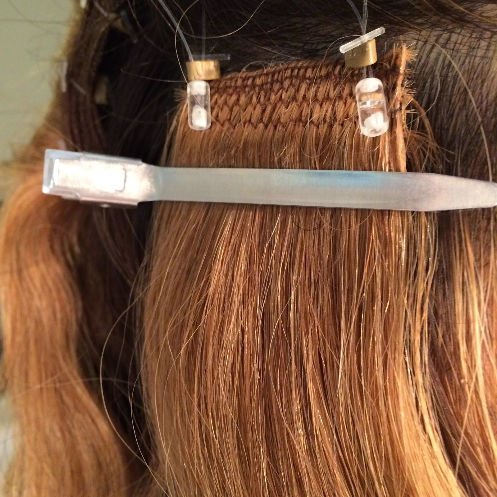 Cult nails blog lockn long hair extension application using a comb i put the pointed bottom of the comb through the looper and pulled the tiniest amount of hair through the looper you seriously just need a pmusecretfo Image collections