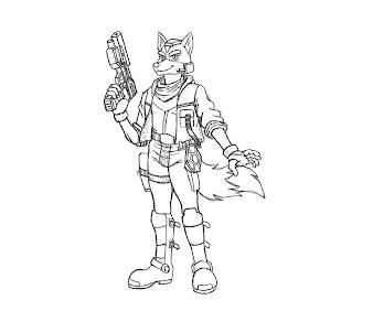 #5 Fox McCloud Coloring Page