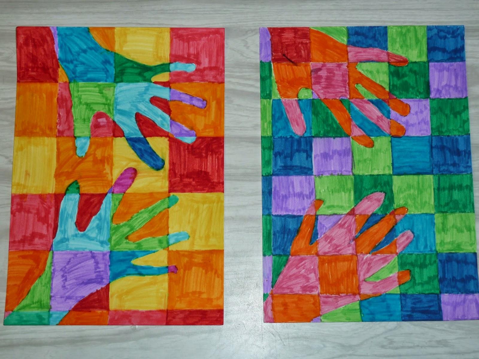 Ecole Sacré Cœur: Arts visuels : couleurs chaudes, couleurs froides