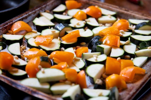 paahdettavia vihanneksia