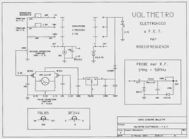 Schema Elettrico Voltmetro Per Auto : Air radiorama voltmetro elettronico per misure di